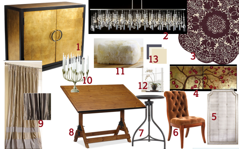 Glam Custom Office Mood Board