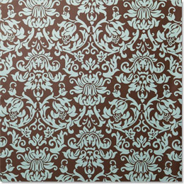 Wrapping paper in damask pattern