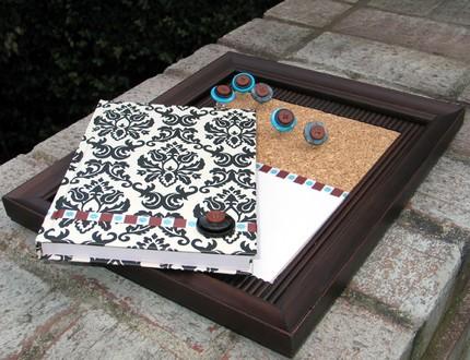 Damask desk accessories