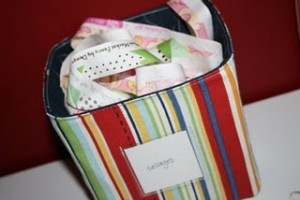 How to sew fabric storage cubes