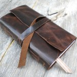 Leather hand-bound weekly planner
