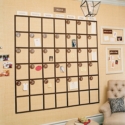 Corkboard calendar